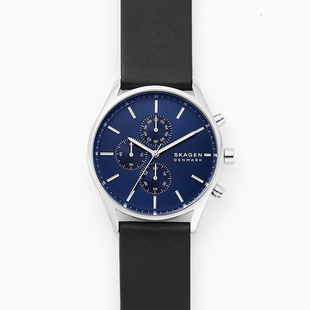 Skagen Holst Black Chronograph Watch - Duffs Jewellers