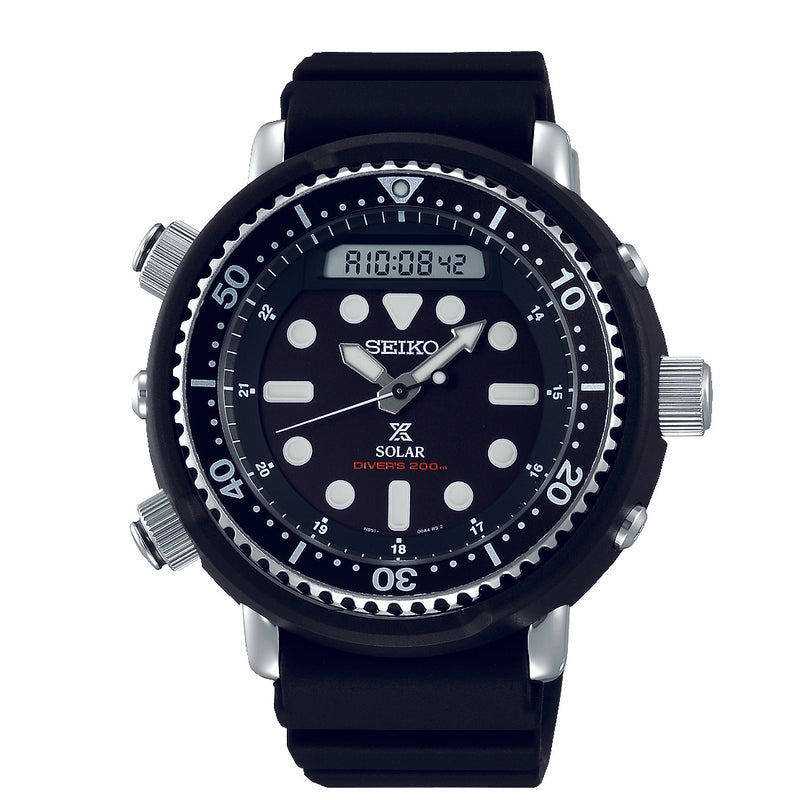 Gents Prospex Solar Dual Time Divers Watch - Duffs Jewellers