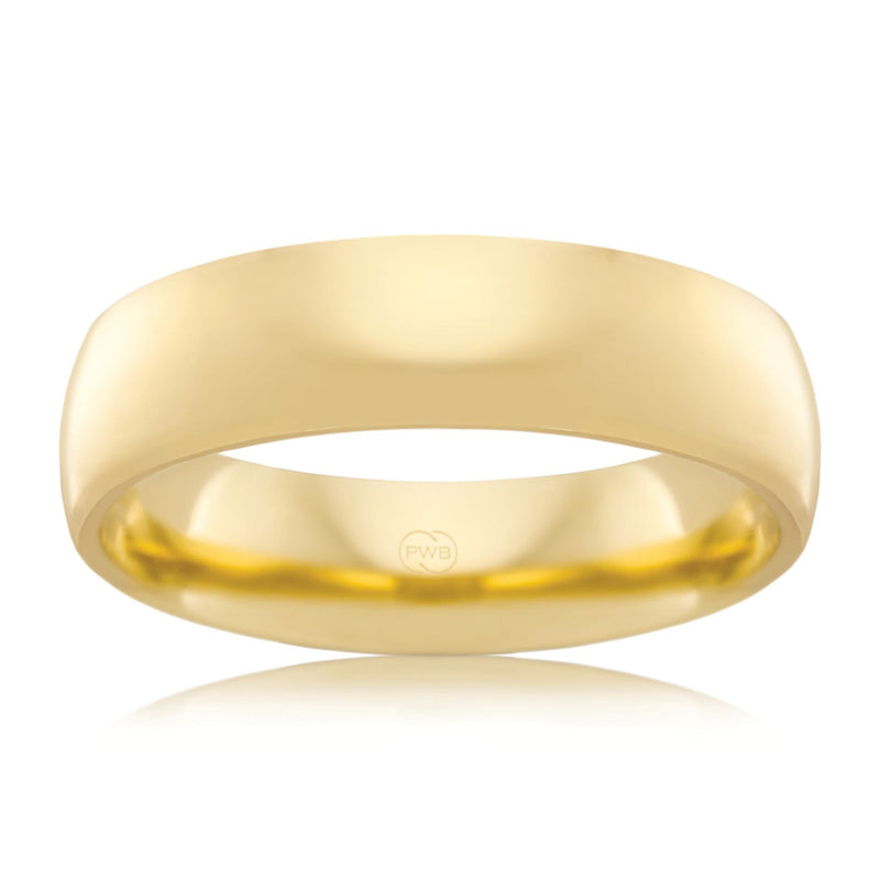 9ct Yellow Gold 6mm Wedding Ring - Duffs Jewellers