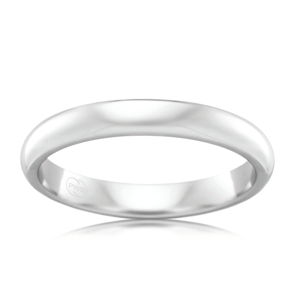 18ct White Gold 3mm Wedding Ring - Duffs Jewellers