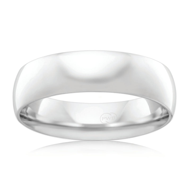9ct White Gold 6mm Wedding Ring - Duffs Jewellers