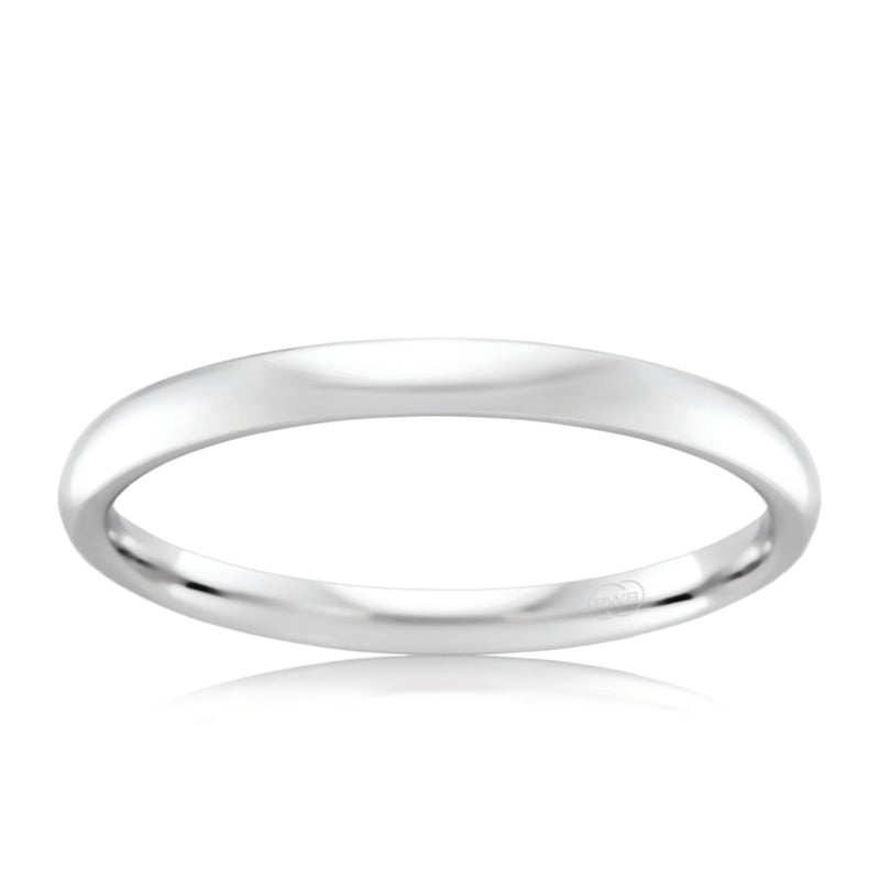 18ct White Gold 2mm Wedding Ring - Duffs Jewellers