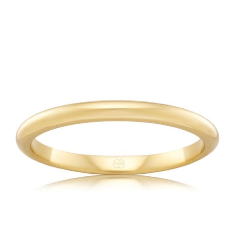 18ct Yellow Gold 2.5mm Wedding Ring