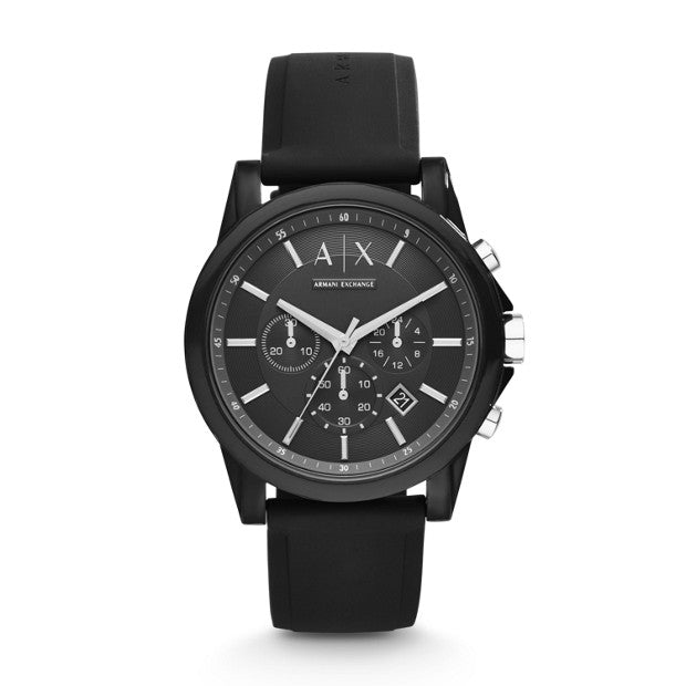 Armani Exchange Black Chronograph Watch - Duffs Jewellers