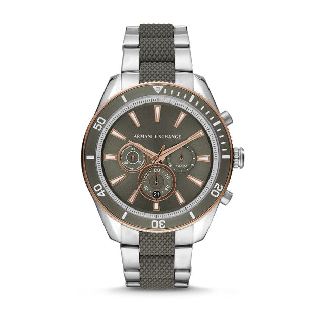 Armani Exchange Green Chronograph Watch - Duffs Jewellers