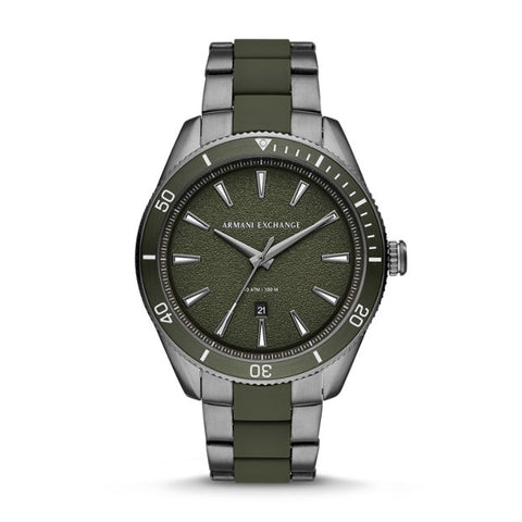 Armani Exchange Green Analogue Watch