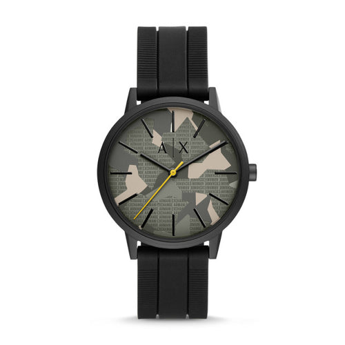 Armani Exchange Black Analogue Watch - Duffs Jewellers