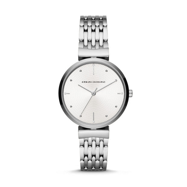 Armani Exchange Silver-Tone Analogue Watch - Duffs Jewellers