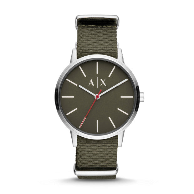 Armani Exchange Green Analogue Watch - Duffs Jewellers