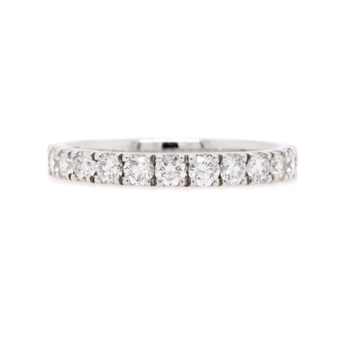 18ct White Gold Diamond Wedding Ring TDW = 0.78ct