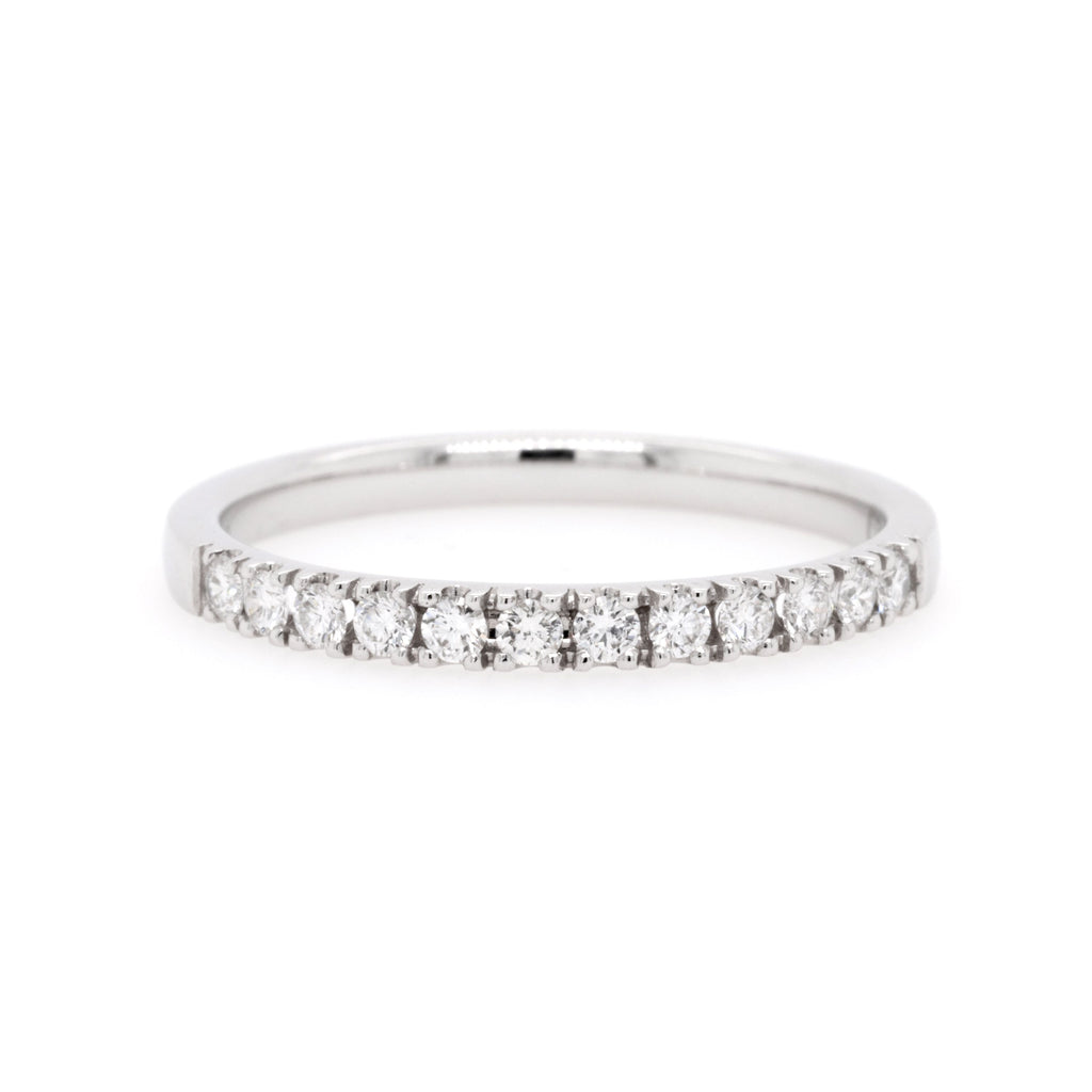 18ct White Gold Diamond Wedding Ring TDW = 0.26ct - Duffs Jewellers