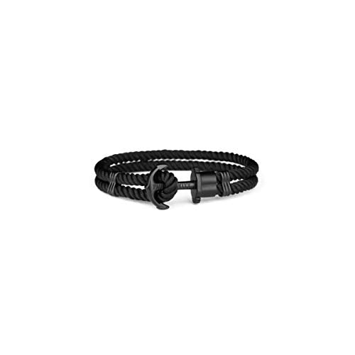 Paul Hewitt Anchor Bracelet PHREP IP Black Nylon Black XL (20cm)