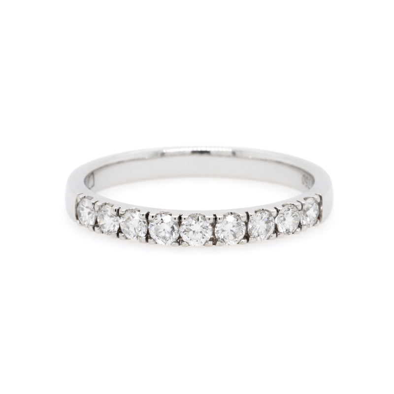 18ct White Gold Diamond Wedding Ring TDW = 0.49ct - Duffs Jewellers