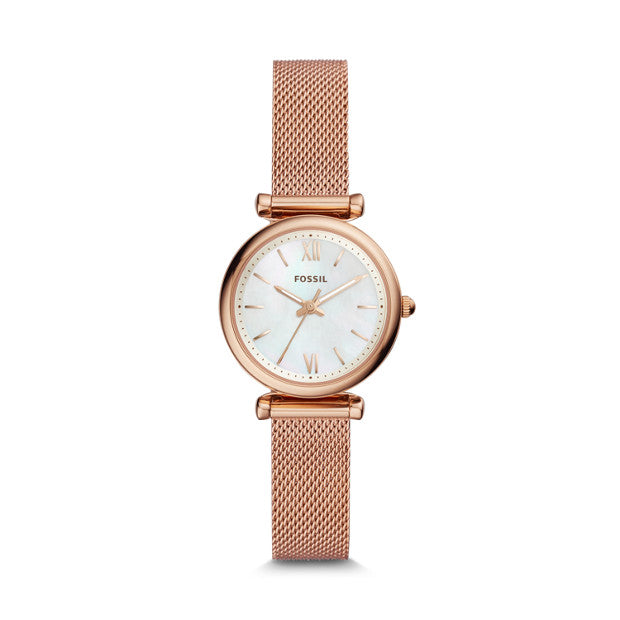 Fossil Carlie Rose Gold-Tone Analogue Watch - Duffs Jewellers