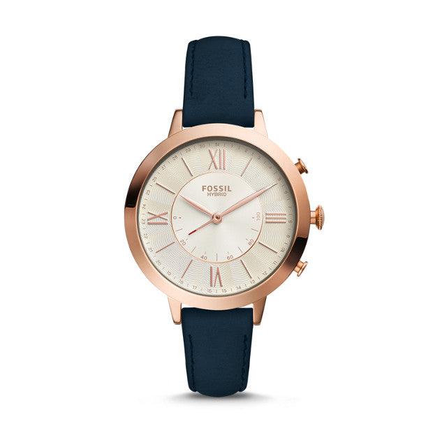 Fossil Q Jacqueline Blue Hybrid Smartwatch - Duffs Jewellers