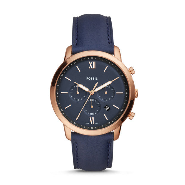 Fossil Neutra Chrono Blue Chronograph Watch - Duffs Jewellers