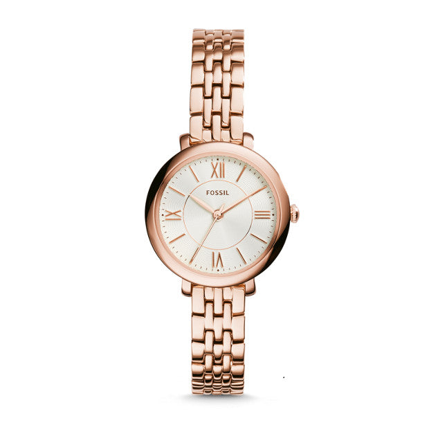 Fossil Jacqueline Rose Gold-Tone Analogue Watch - Duffs Jewellers