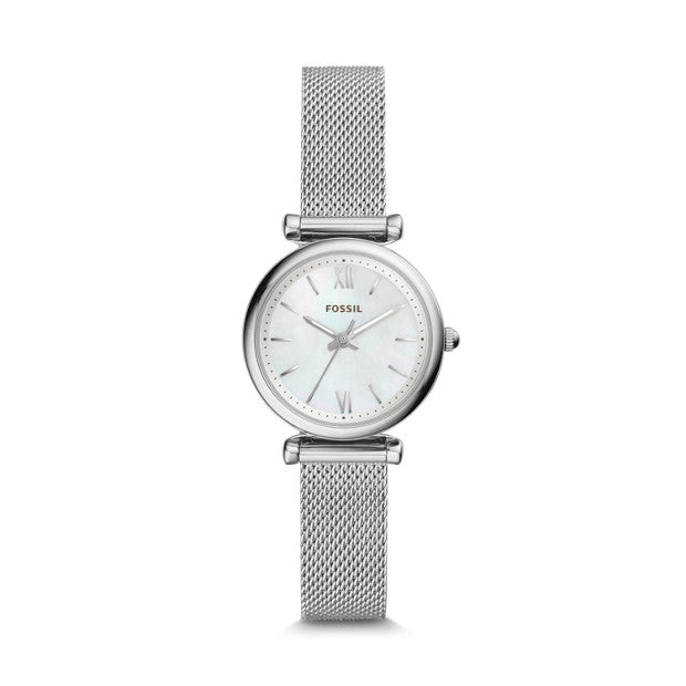 Fossil Carlie Silver-Tone Analogue Watch - Duffs Jewellers