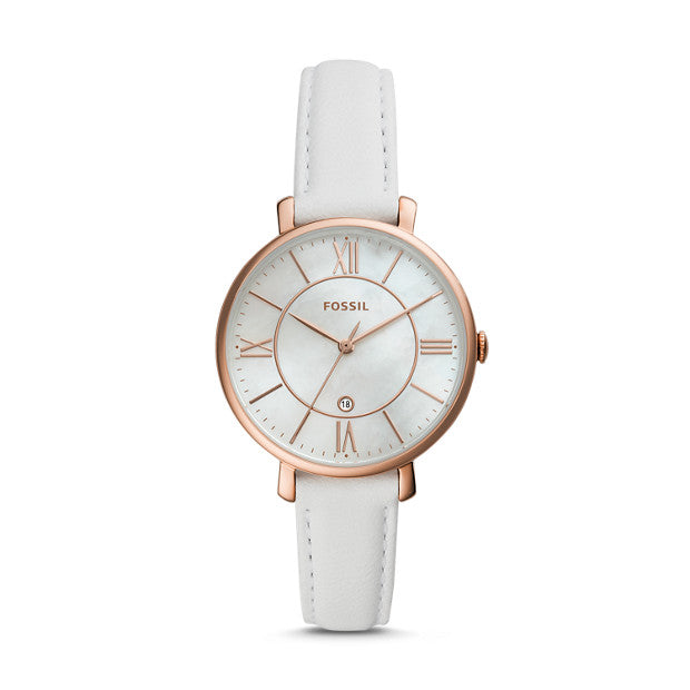 Fossil Jacqueline White Analogue Watch - Duffs Jewellers