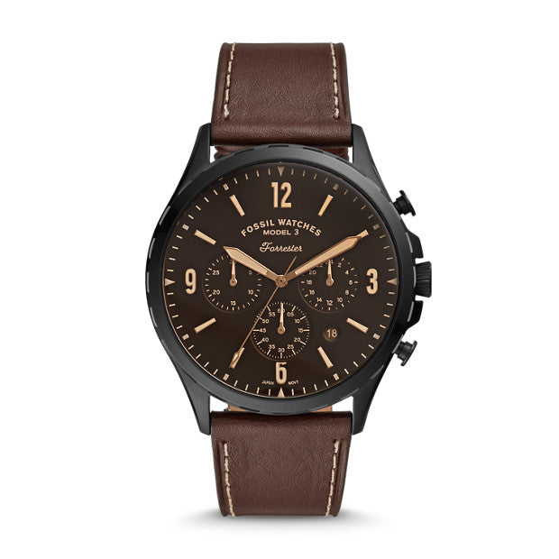 Fossil Forrester Brown Chronograph Watch - Duffs Jewellers