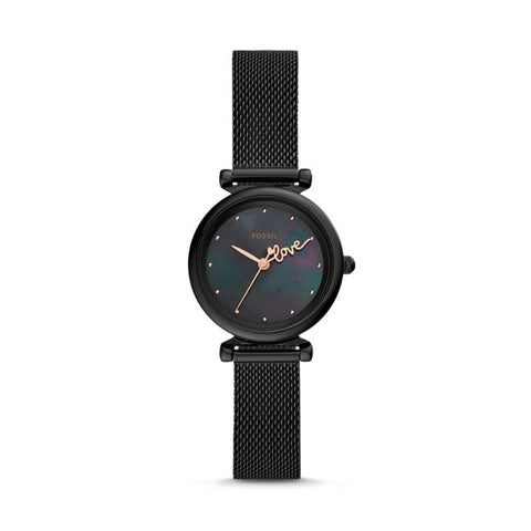Fossil Carlie Mini Black Analogue Watch