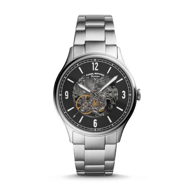 Fossil Forrester Silver-Tone Analogue Watch - Duffs Jewellers