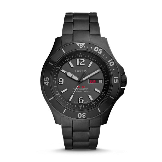 Fossil FB-02 Black Analogue Watch - Duffs Jewellers
