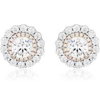 MIRANNA DOUBLE HALO STUD EARRING - Duffs Jewellers