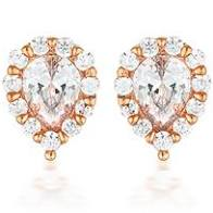 Georgini Monaco White CZ Rose Gold 20Mils Earring - Duffs Jewellers
