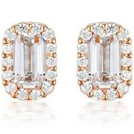 Georgini Paris White CZ Rose Gold 20Mils Earring