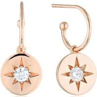 Georgini Stellar Lights White CZ Rose Gold 20Mils Earring