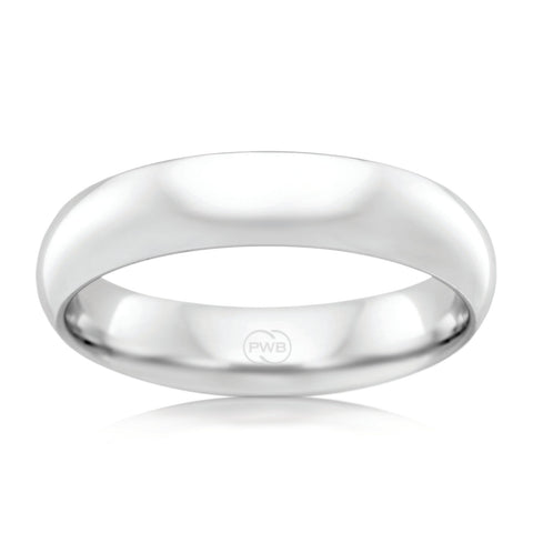 9ct White Gold 5.5mm Wedding Ring