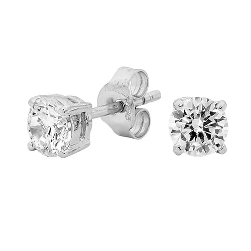 Georgini 5mm Clear Round Stud - Silver - Duffs Jewellers