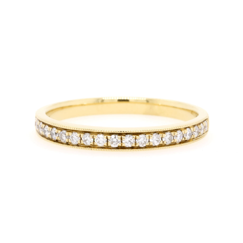 18ct Yellow Gold Diamond Wedding Ring TDW = 0.21ct - Duffs Jewellers