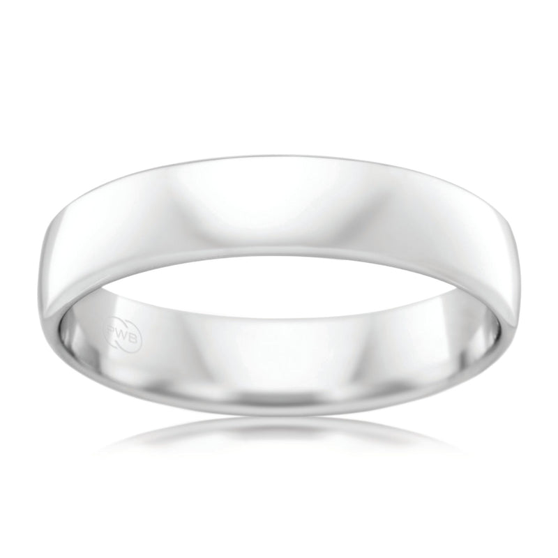 9ct White Gold 5mm Wedding Ring - Duffs Jewellers
