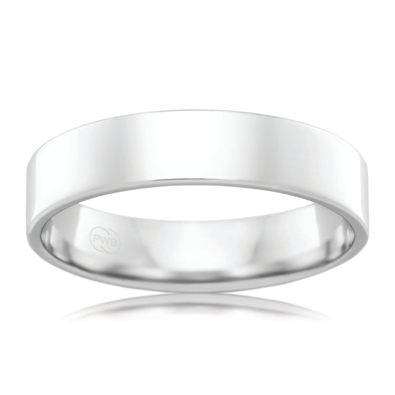 9ct White Gold 5.5mm Wedding Ring - Duffs Jewellers