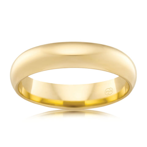 9ct Yellow Gold 5.5mm Wedding Ring