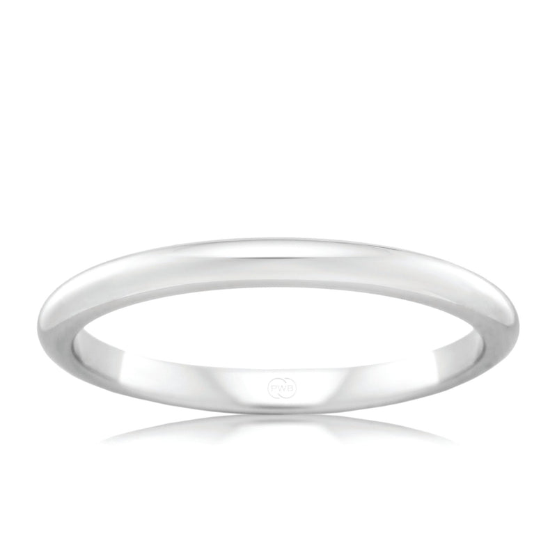 18ct White Gold 2.5mm Wedding Ring - Duffs Jewellers