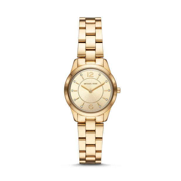 Michael Kors Runway Gold-Tone Analogue Watch - Duffs Jewellers