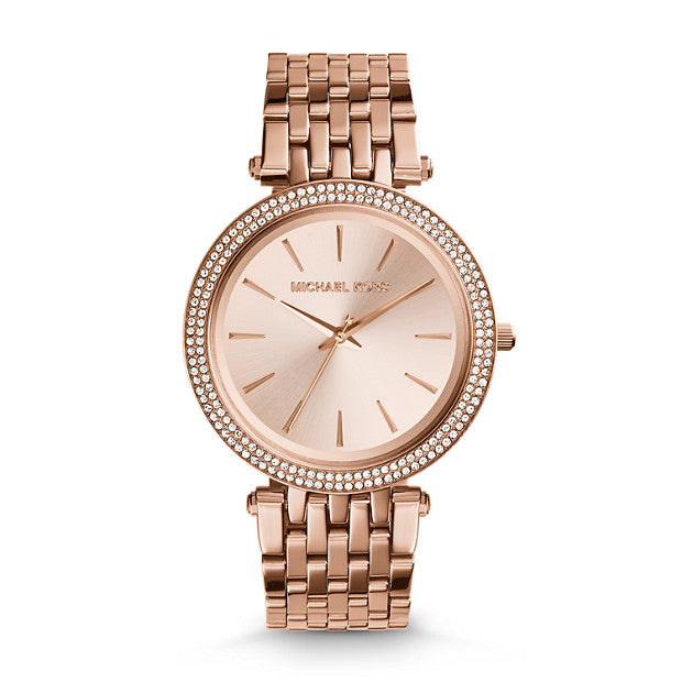 Michael Kors Darci Rose Gold-Tone Analogue Watch - Duffs Jewellers