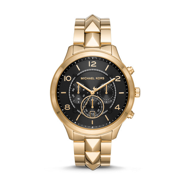 Michael Kors Runway Mercer Gold-Tone Chronograph Watch - Duffs Jewellers
