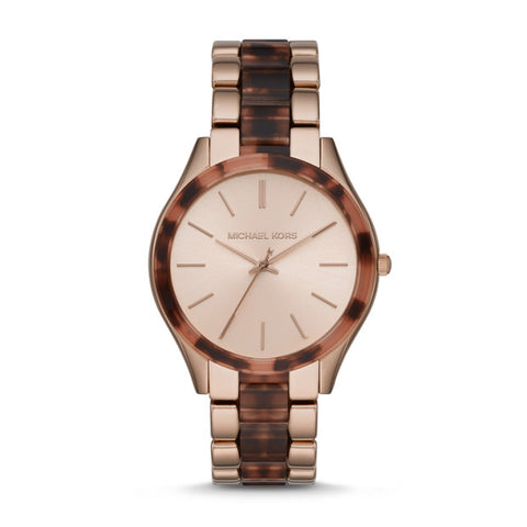 Michael Kors Slim Runway Two Tone Analogue Watch