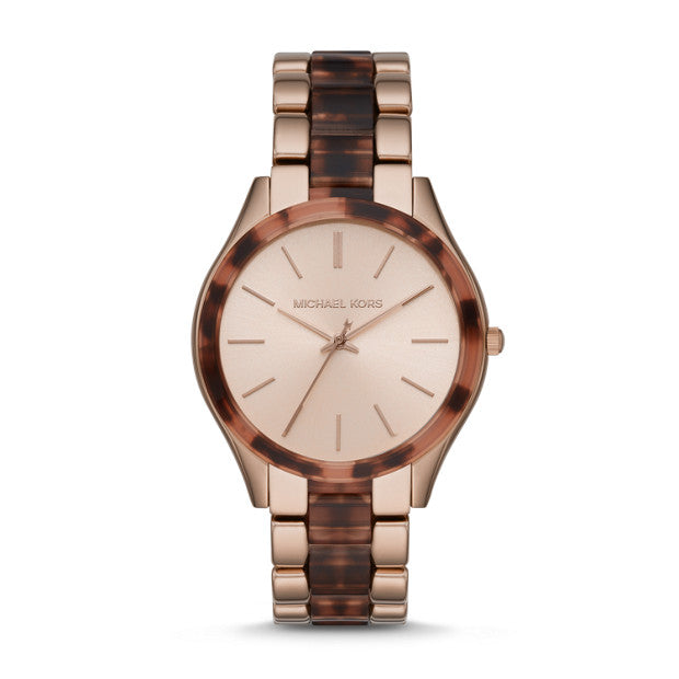 Michael Kors Slim Runway Two Tone Analogue Watch - Duffs Jewellers