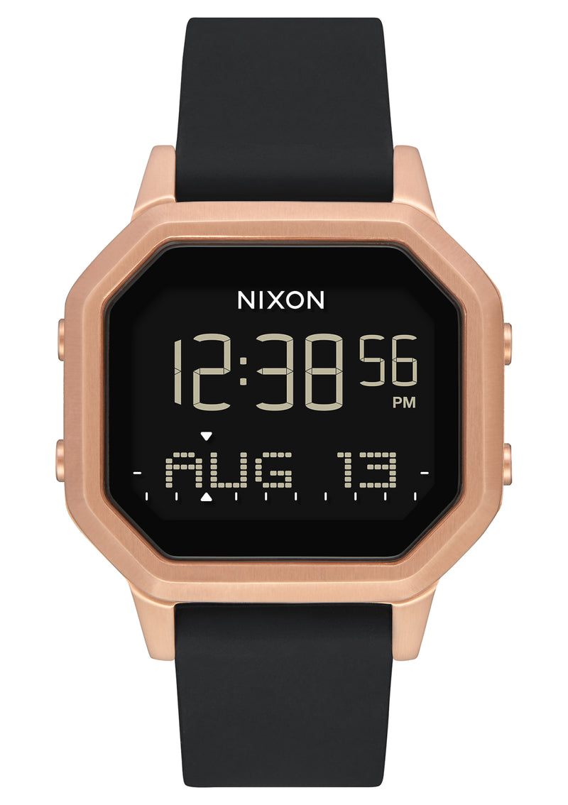 NIXON Siren Stainless Steel | Rose Gold/Black - Duffs Jewellers
