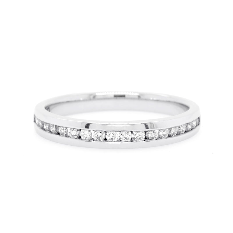 18ct White Gold Diamond Wedding Ring TDW = 0.24ct - Duffs Jewellers