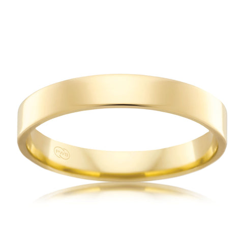 18ct Yellow Gold 3mm Wedding Ring