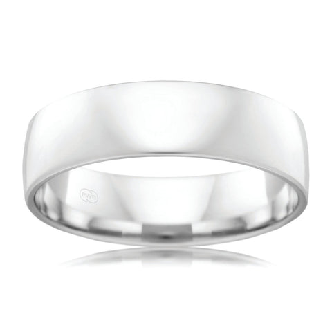 9ct White Gold 6mm Wedding Ring