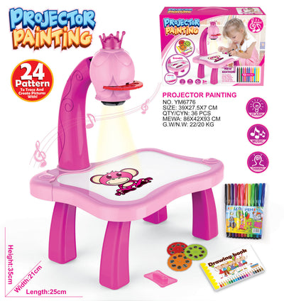 Kids Drawing Table with Projector