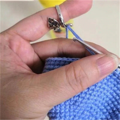 Finger Crochet Knitting Loops Ring (2pcs)
