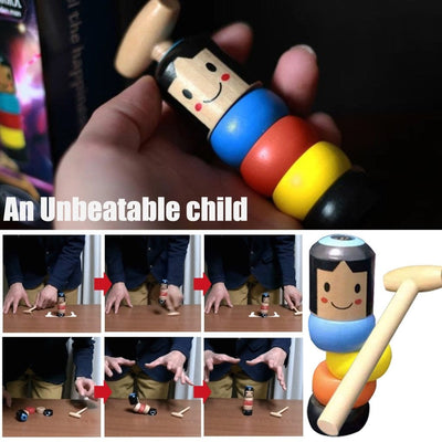 (6 Sets) Unbreakable Sturdy Steve Wooden Toy